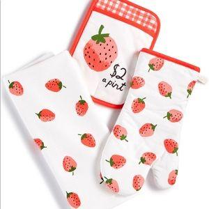 Kate Spade Strawberry 3-pc Kitchen Set